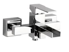 - Wall-mounted bathtub mixer QUBIKA CASCATA | Bathtub mixer - Remer Rubinetterie