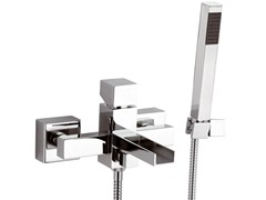 - Wall-mounted bathtub mixer with hand shower RIVER | Bathtub mixer with hand shower - Rubinetterie Mariani