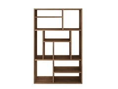 - Open double-sided teak bookcase TEAK M-RACK | Bookcase - Ethnicraft