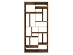 - Open double-sided teak bookcase TEAK M-RACK | Teak bookcase - Ethnicraft