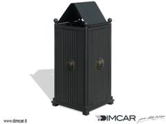 - Outdoor metal waste bin with lid Cestone Sassari con coperchio - DIMCAR