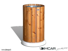 - Outdoor wooden waste bin Cestone Demos - DIMCAR