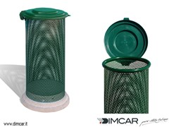 - Outdoor metal waste bin with lid Cestone Eden con coperchio - DIMCAR