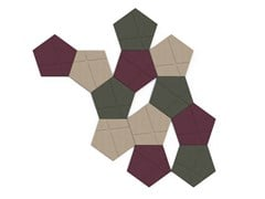 - Decorative acoustical panels BUZZITILE 3D PENTA - BuzziSpace