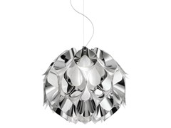 - Indirect light Steelflex® pendant lamp FLORA MEDIUM SILVER - Slamp