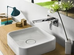 - Wall-mounted washbasin mixer with flow limiter ACQUAVIVA | Wall-mounted washbasin mixer - Carlo Nobili Rubinetterie