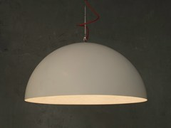 - Direct light pendant lamp MEZZA LUNA 1 BIANCO - In-es.artdesign