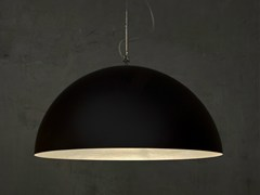 - Direct light pendant lamp MEZZA LUNA 1 NERO - In-es.artdesign