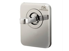 - Chrome-plated shower mixer with plate LOUNGE | Shower mixer with plate - NOKEN DESIGN