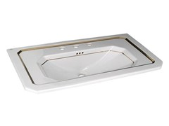 - Console rectangular washbasin with overflow IMAGINE | Single washbasin - NOKEN DESIGN
