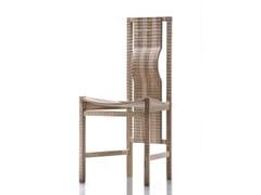 - Walnut chair PISANA - HABITO by Giuseppe Rivadossi