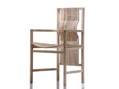 - Walnut chair with armrests PISANA | Chair with armrests - HABITO by Giuseppe Rivadossi