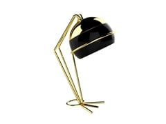 - Brass table lamp with fixed arm BLACK WIDOW | Table lamp - CreativeMary