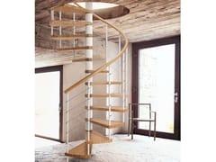 Scala a chiocciola in acciaio e legno GENIUS 010 | Scala a chiocciola - Fontanot - Albini & Fontanot