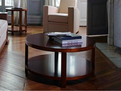 - Round wooden coffee table with integrated magazine rack AGORA   Coffee table - HUGUES CHEVALIER