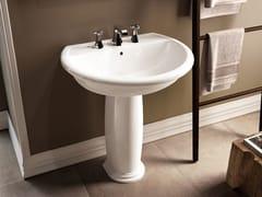 - Pedestal ceramic washbasin FIDIA | Pedestal washbasin - CERAMICA FLAMINIA