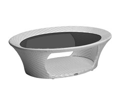- Oval garden side table NUVOLA   Oval coffee table - Mediterraneo by GPB