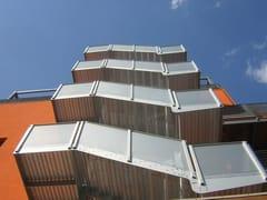 Scala antincendio in alluminio con struttura centraleSCALA DI SICUREZZA A STRUTTURA CENTRALE - ALUSCALAE