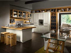 - Fitted kitchen with peninsula LIVING VERANDA - L'Ottocento