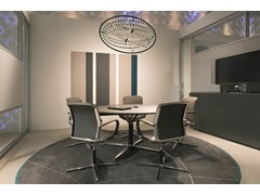 - Round meeting table FILO 4-STAR TABLE | Round meeting table - BENE