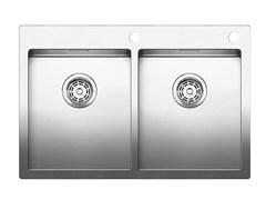 - 2 bowl built-in stainless steel sink BLANCO CLARON 340/340-IF/A - Blanco