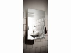 - Electric wall-mounted mirrored towel warmer MIRROR RECTANGLE - mg12