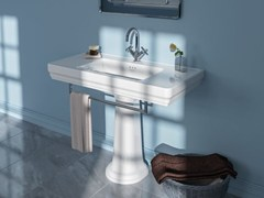 - Single pedestal washbasin CANOVA ROYAL 105 - CERAMICA CATALANO
