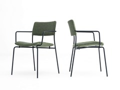 - Upholstered fabric chair with armrests STILO | Chair with armrests - Grado Design Furnitures
