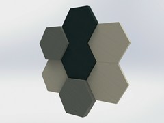 Pannello decorativo acustico in tessutoBUZZIBLOX HEXA - BUZZISPACE