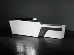 - Modular Solid Surface® reception desk MONO | Configuration 3 - Isomi