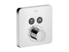- Thermostatic shower mixer with plate AXOR CITTERIO E | Thermostatic shower mixer - HANSGROHE