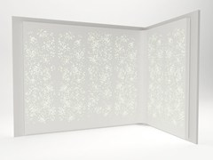 - Solid Surface® wall tiles / room divider LIGHT WALL | Solid Surface® wall tiles - Isomi