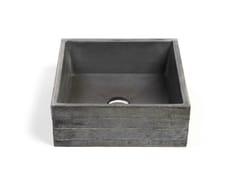 - Countertop square Concrete and Cement-Based Materials washbasin INVIVO 40 - URBI et ORBI