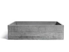 - Countertop rectangular Concrete and Cement-Based Materials washbasin INVIVO 60 - URBI et ORBI