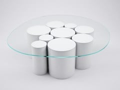 - Low round crystal coffee table POINTILLISME | Round coffee table - VIDAME CREATION
