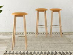 - High wooden stool OTO | High stool - ONDARRETA