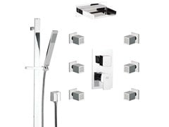 - Shower wallbar with diverter with hand shower with mixer tap FLASH | Set Doccia - Remer Rubinetterie