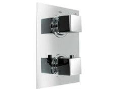 - Chrome-plated shower tap with diverter with plate NK LOGIC | Shower tap with plate - NOKEN DESIGN