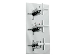 - Chrome-plated shower tap with diverter with plate FUTURE | Thermostatic shower tap - NOKEN DESIGN
