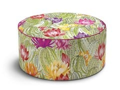 - Upholstered fabric pouf with removable lining Pouf - MissoniHome