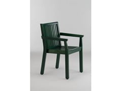 - Wooden garden chair with armrests SERIE AIRONE | Chair with armrests - Legnolandia