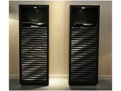 - Lacquered highboard with doors EBON | Highboard - CorteZari