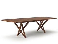 - Rectangular wooden dining table VIVIAN | Rectangular table - Belfakto