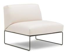 - Sled base upholstered easy chair SIESTA | Easy chair - Andreu World
