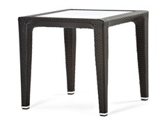 - Square synthetic fibre table with glass top ALTEA | Square table - Varaschin