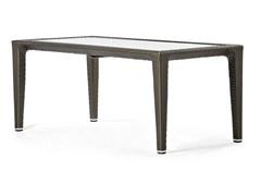 - Rectangular plastic table with glass top ALTEA | Rectangular table - Varaschin