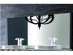 - Metal mirror with integrated lighting QUADRA | Mirror - CorteZari