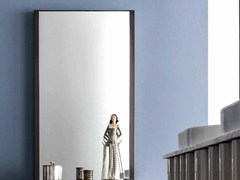 - Wall-mounted mirror with integrated lighting QUADRA | Wall-mounted mirror - CorteZari