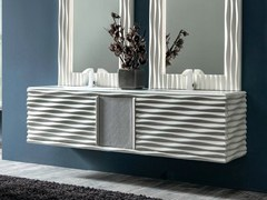 - Double wall-mounted vanity unit EBON | Vanity unit - CorteZari