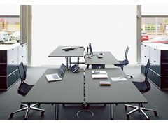 - Height-adjustable workstation desk USM KITOS TABLE | Height-adjustable office desk - USM Modular Furniture